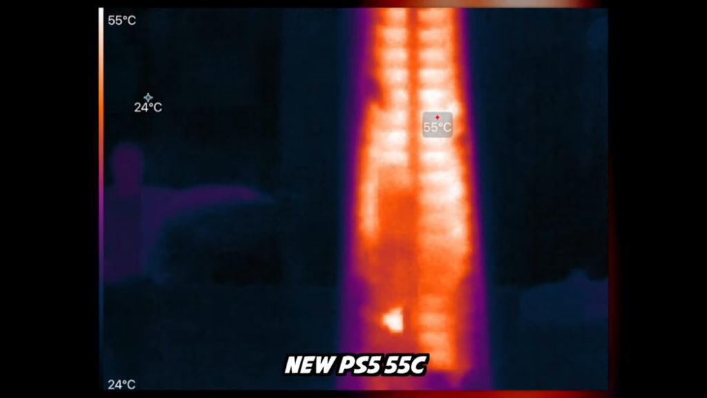 新版 PS5 的平均溫度約 55 度。