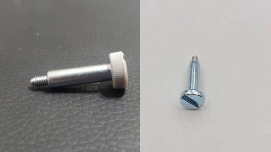 右邊是舊型號主機的底座螺絲,需要用螺絲批或硬幣操作,左邊是新型號的螺絲,可以用手擰實。