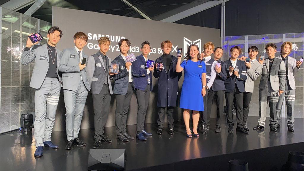 三星電子香港董事總經理趙依音女士與MIRROR 12 子宣布 Galaxy Z Fold 3 及 Galaxy Z Flip 3 正式在港推出。