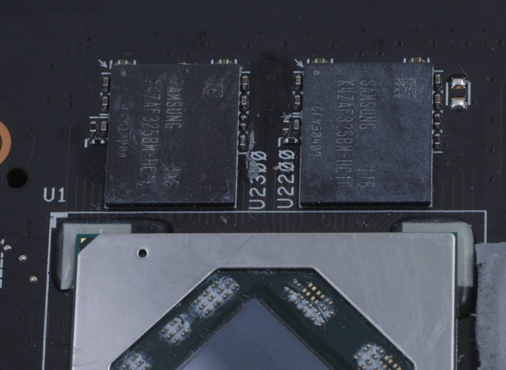 採用 Samsung 16Gbps GDDR6 ,但容量僅有 8GB 而且是 128-bit 設計,把卡的應用限在 1080p 而最高不過 1440p。