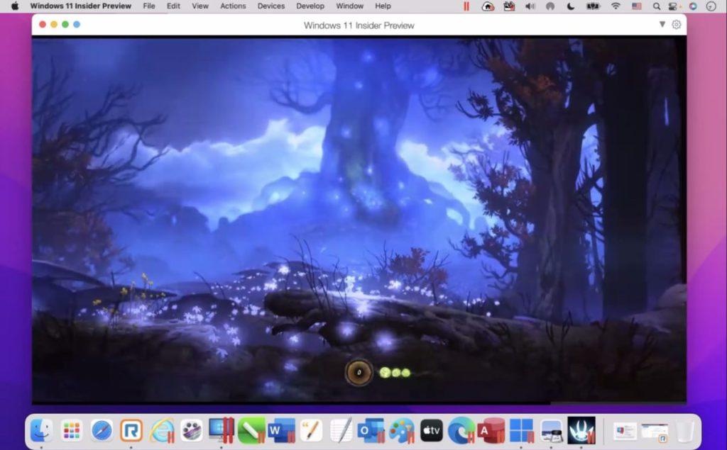 在安裝了 macOS Monterey 的 M1 MacBook Pro 上遊玩支援 OpenGL 的《 Ori and the Blink Forest 》表現順暢。