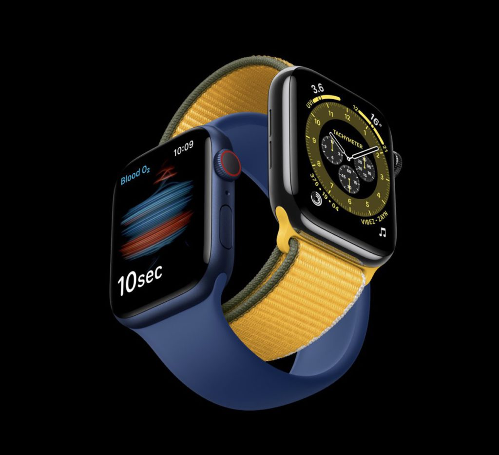 現正發售的 Apple Watch Series 6 ,錶身弧邊設計,屏幕也弧形彎入邊框中。