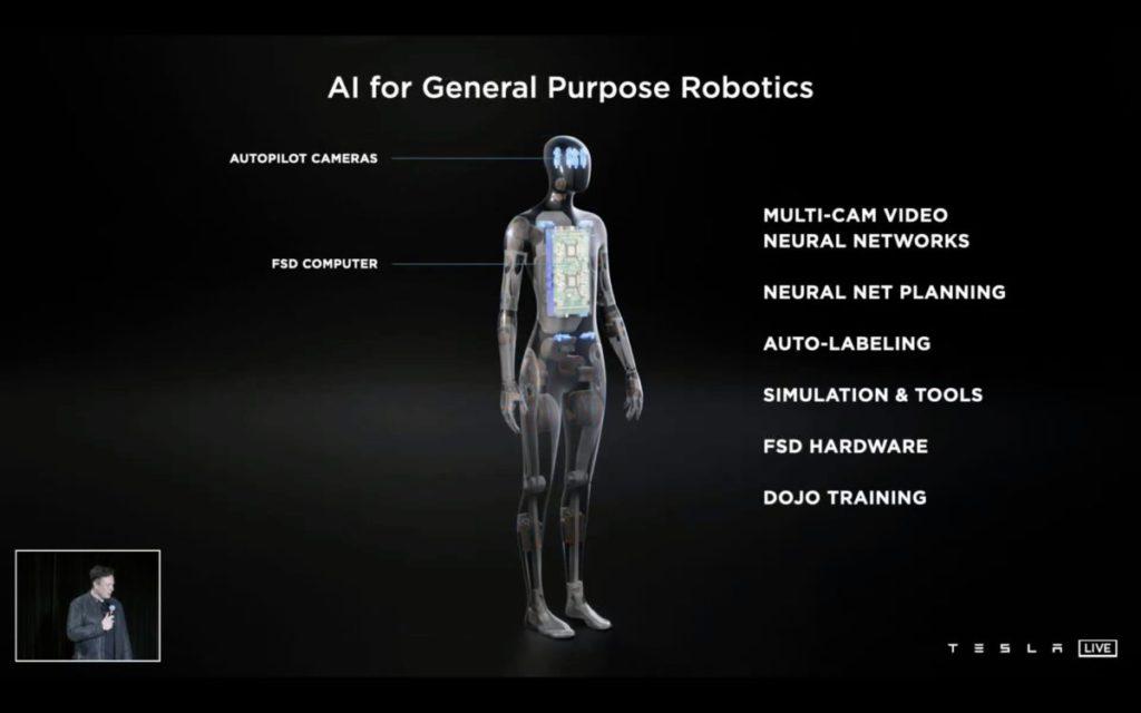 頭部有 8 個自動駕駛鏡頭,電腦放在機械人胸部。