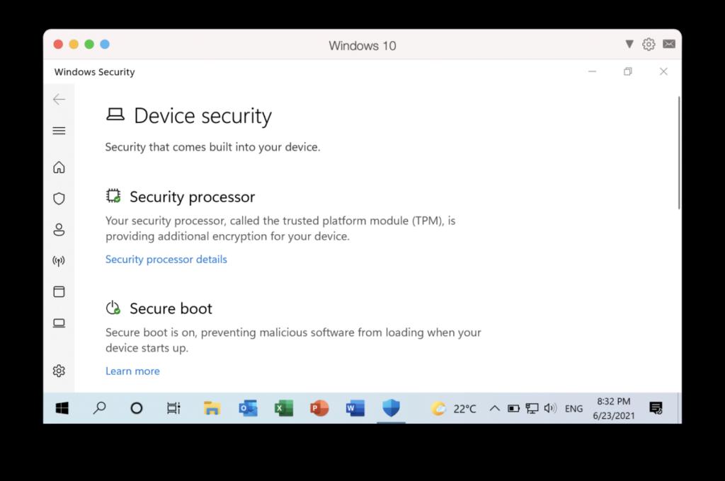有了虛擬 TPM 晶片,就可以在 Windows 10/11 上使用 BitLocker 和 Secure Boot 。