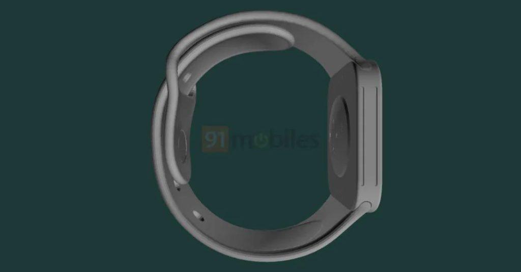 Apple Watch Series 7 渲染圖 6 (來源: 91mobiles )