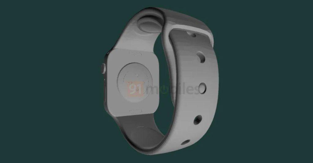Apple Watch Series 7 渲染圖 7 (來源: 91mobiles )