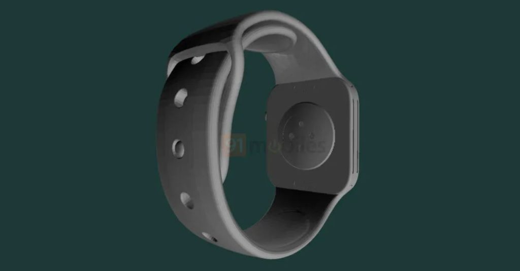 Apple Watch Series 7 渲染圖 8 (來源: 91mobiles )