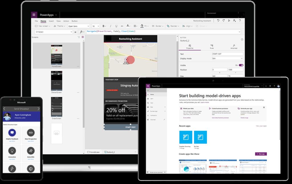 Microsoft Power App 讓任何人毋需編碼就能建置適合工作的應用程式。