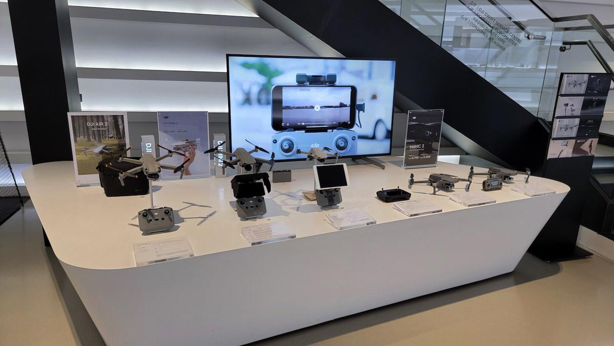 店內所有產品如常發售,包括航拍機、雲台相機、手機雲台等等。