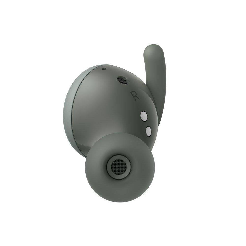 Google 說他們掃瞄過上千對耳朵來設計這對新耳機,提供穩固的佩戴感受。