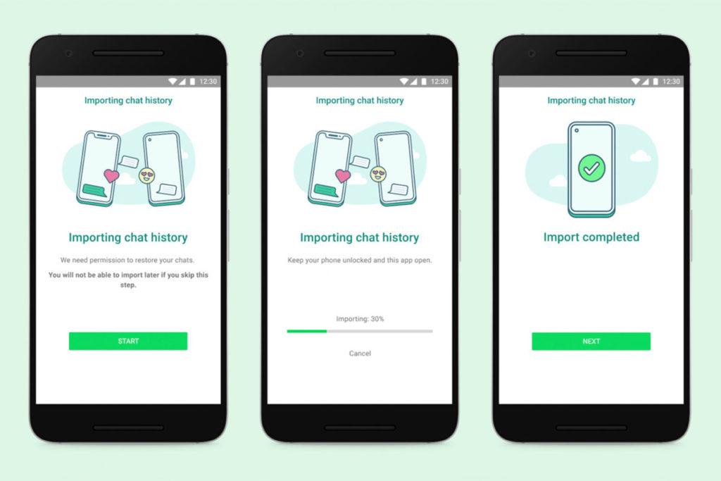 在轉移前,用戶要先授權程式復完對話內容,而在轉移 WhatsApp 對話期間,用戶必須保持手機開啟,並保持程式在前景執行。