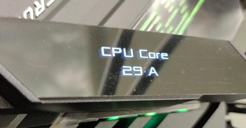 3DMark CPU Profile 測試1-thread 最高CPU Core 為29A 電流,並不算低。