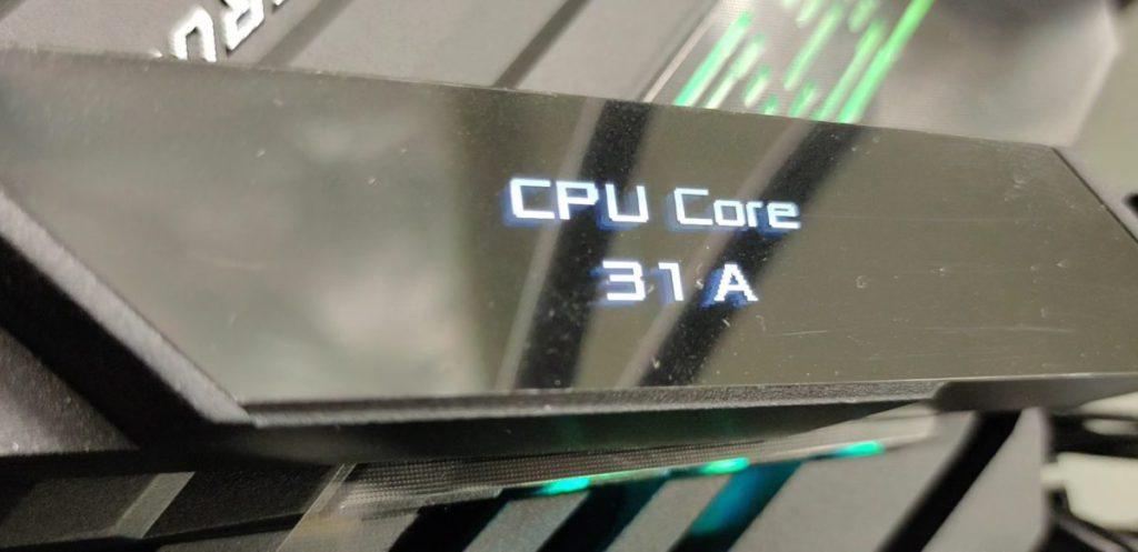 3DMark CPU Profile測 試Max Threads 時最高 CPU Core可達31A電流。