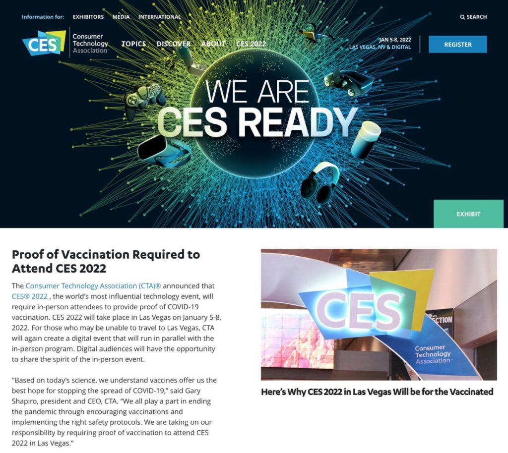 CES官方公布會響2022.01正式復show,但都要視乎到時疫情同埋全球嘅情況!