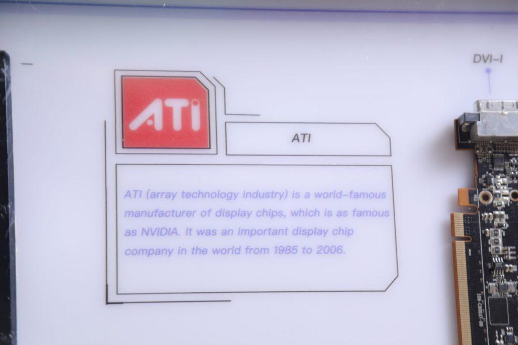 店家花了不少時間在整理產品的資料上。如ATI 的全寫為Array Technology Industry,即使是筆者平時也不會多留意。