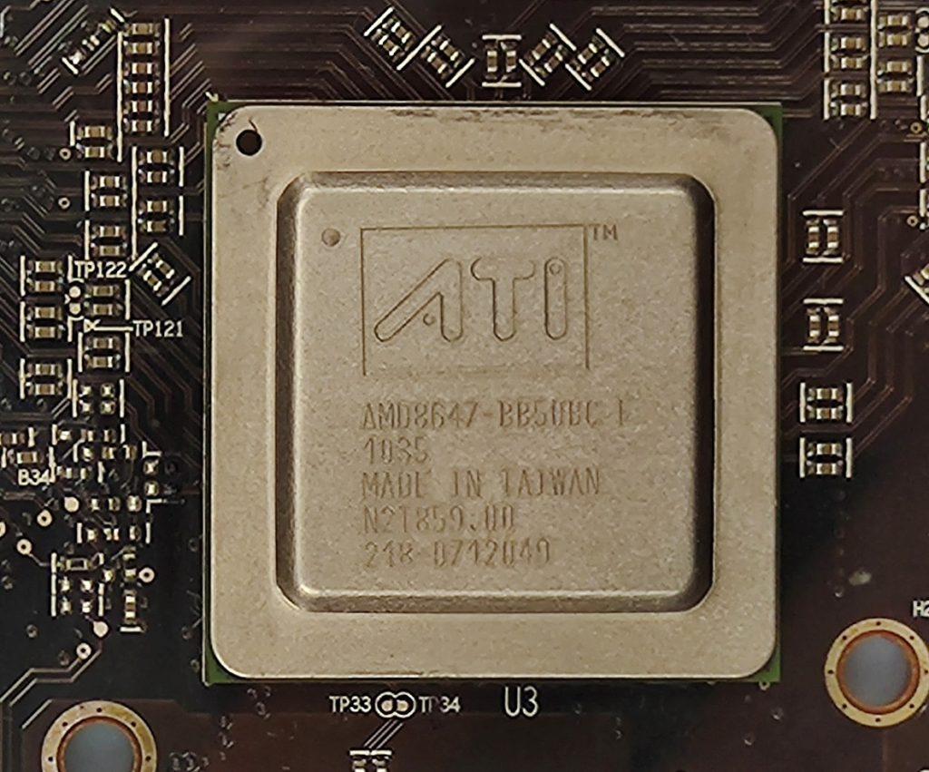 這顆ATI晶片作用是兩顆GPU之間的Bridge,使雙GPU協同工作變成可能。