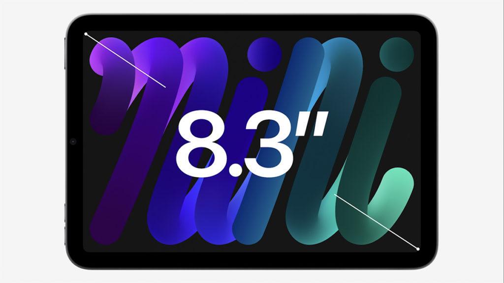 使用8.3吋 Liquid Retina Display,具備Ture Tone 功能、500 nits 亮度等。