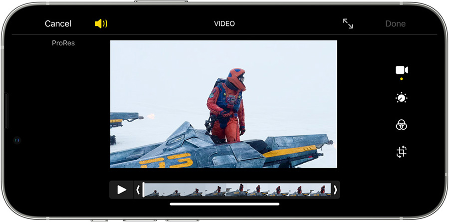 ProRes 錄影功能賣點在於為影片帶來更高的色彩逼真度及減少壓縮失真,符合更高要求用途,而且可於 Apple Final Cut Pro、Adobe Premier 及 Davinci Resolve 中進行後製編輯。