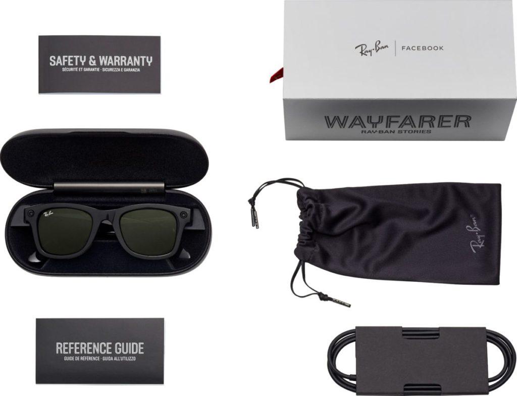 附屬的眼鏡盒兼用作充電器。