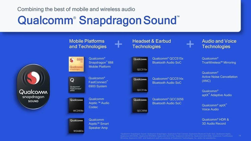 Qualcomm aptX Lossless 也將會納入 3 月發表的 Snapdragon Sound 認證之下。