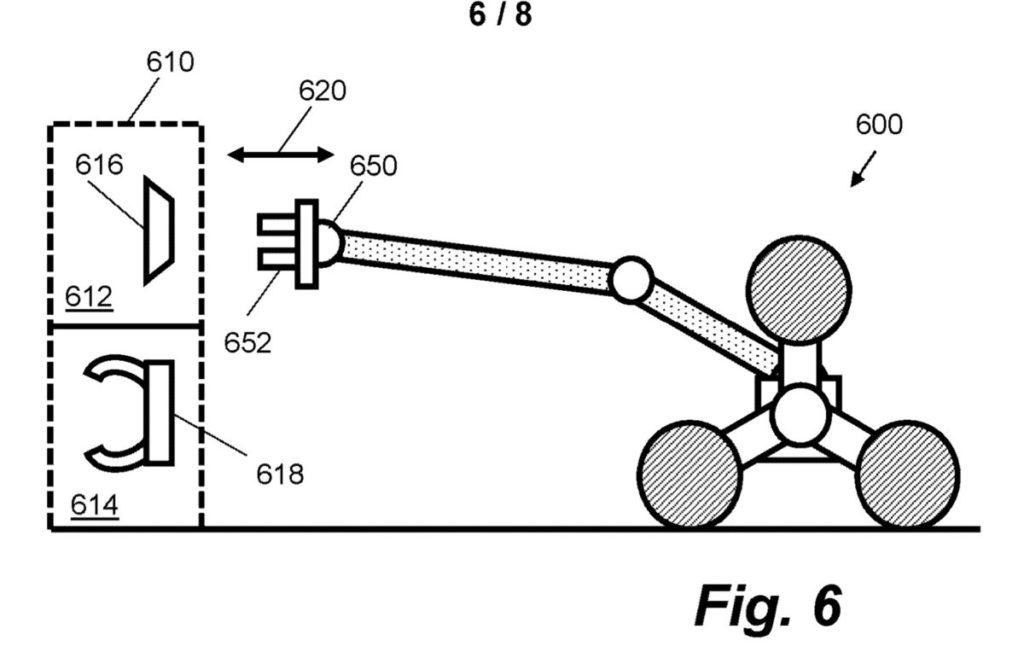 機械人的長臂可以更換不同的配件。