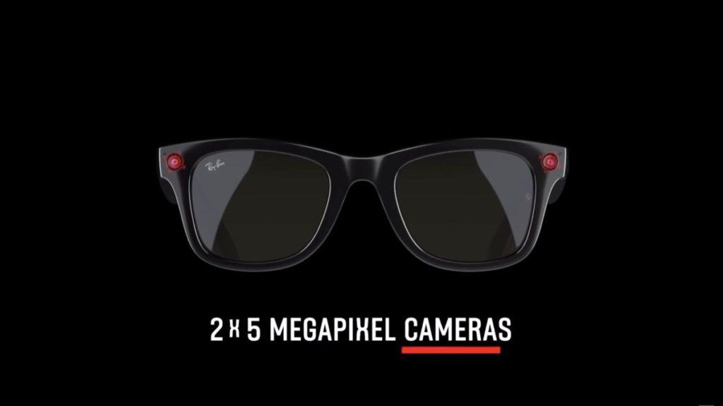 鏡框兩邊各有 500 萬像素鏡頭。