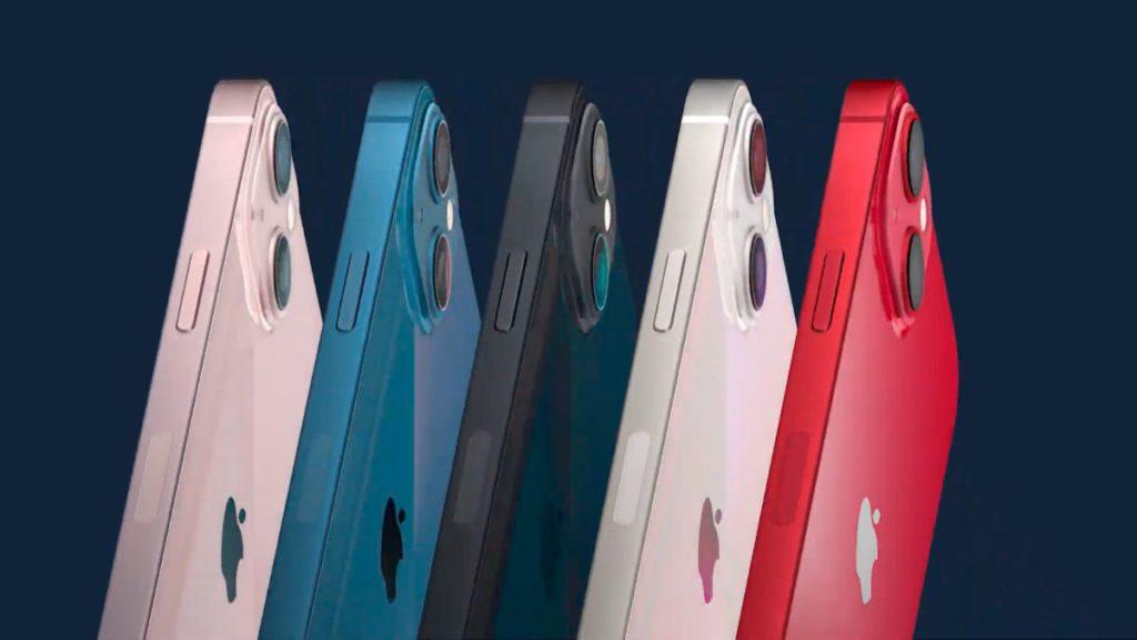 iPhone 13/13 mini 備有粉紅、藍、午夜暗、星光和 (PRODUCT)RED 5 種顏色選擇。