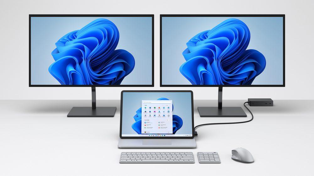 雖然已經備有兩個 Thunderbolt 4 接口,可以提供高速高刷新率的外置屏幕連接,但 Surface Laptop Studio 仍然支援 Surface Dock 作擴充。