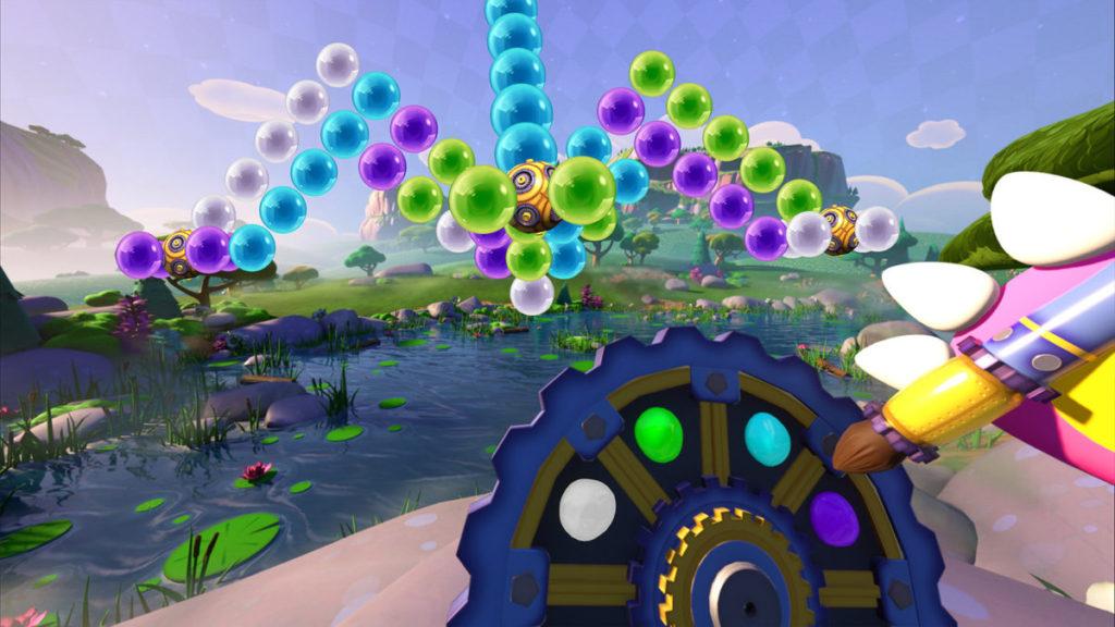 遊戲方式照舊,三粒同色就可以爆波,但立體轉動會否考起玩家呢?