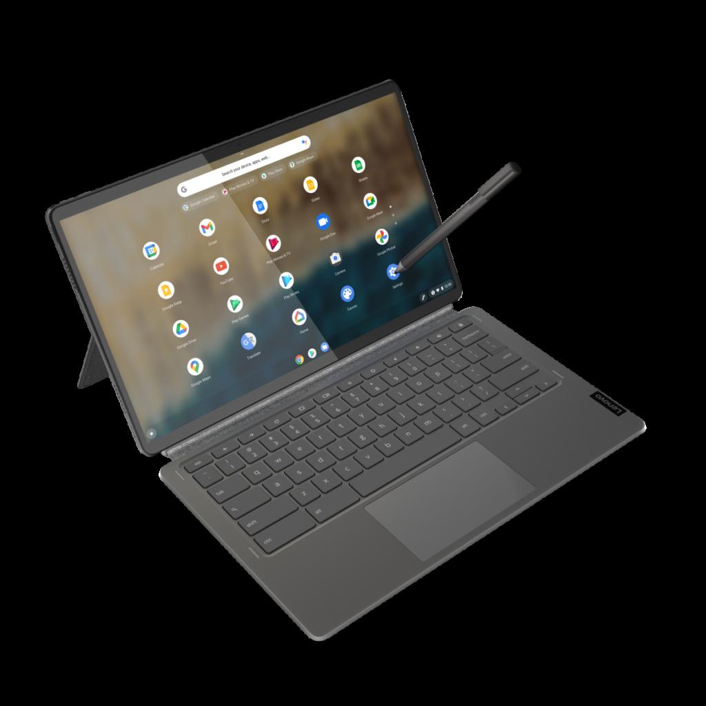 外觀上似 Surface Pro 的分離鍵盤設計,可作平板電腦用,但 Chromebook 對安裝 Android Apps 有限制,有機會影響軟件選擇。