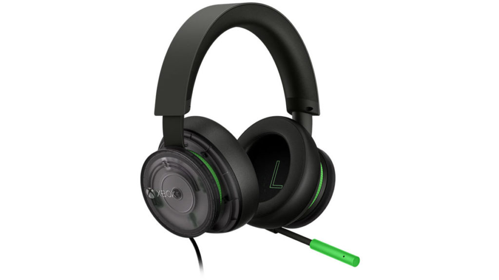 Xbox Stereo Headset-20th Anniversary Special Edition also uses transparent black with silver interior color, plus Xbox green for embellishment.