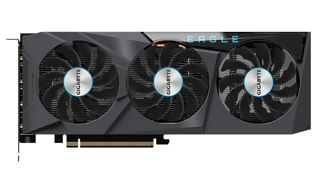 Gigabyte RX 6600 Eagle 是少數採用三風扇方案的 RX 6600 顯示卡