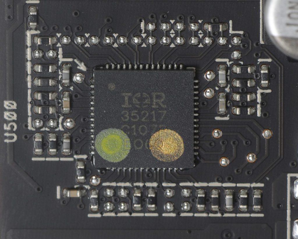 採用 Infineon IR35217 數位供電晶片