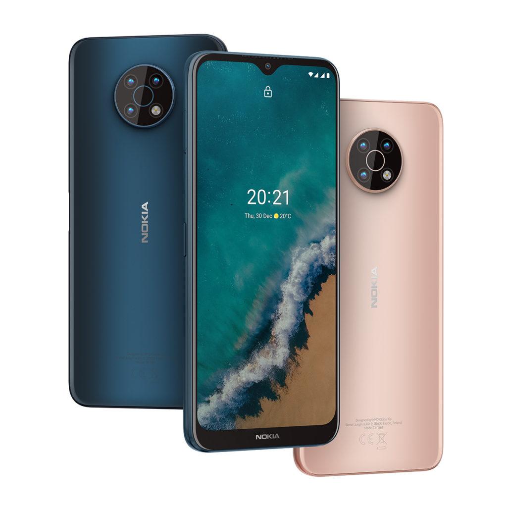 Nokia G50 ,備有海藍色及暮光銅兩色,為 6GBRAM + 128GB ROM版本,定價 $2,198。