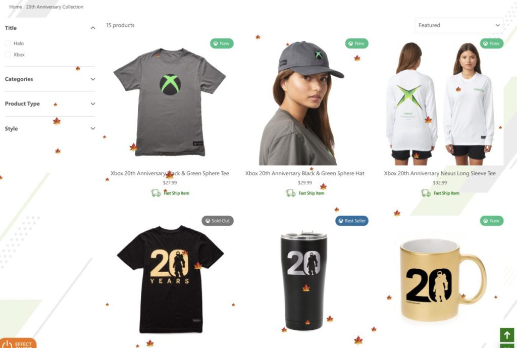 A series of commemorative products to commemorate the 20th anniversary of Xbox are on sale at gear.xbox.com.